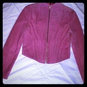 Bebe pink suede jacket